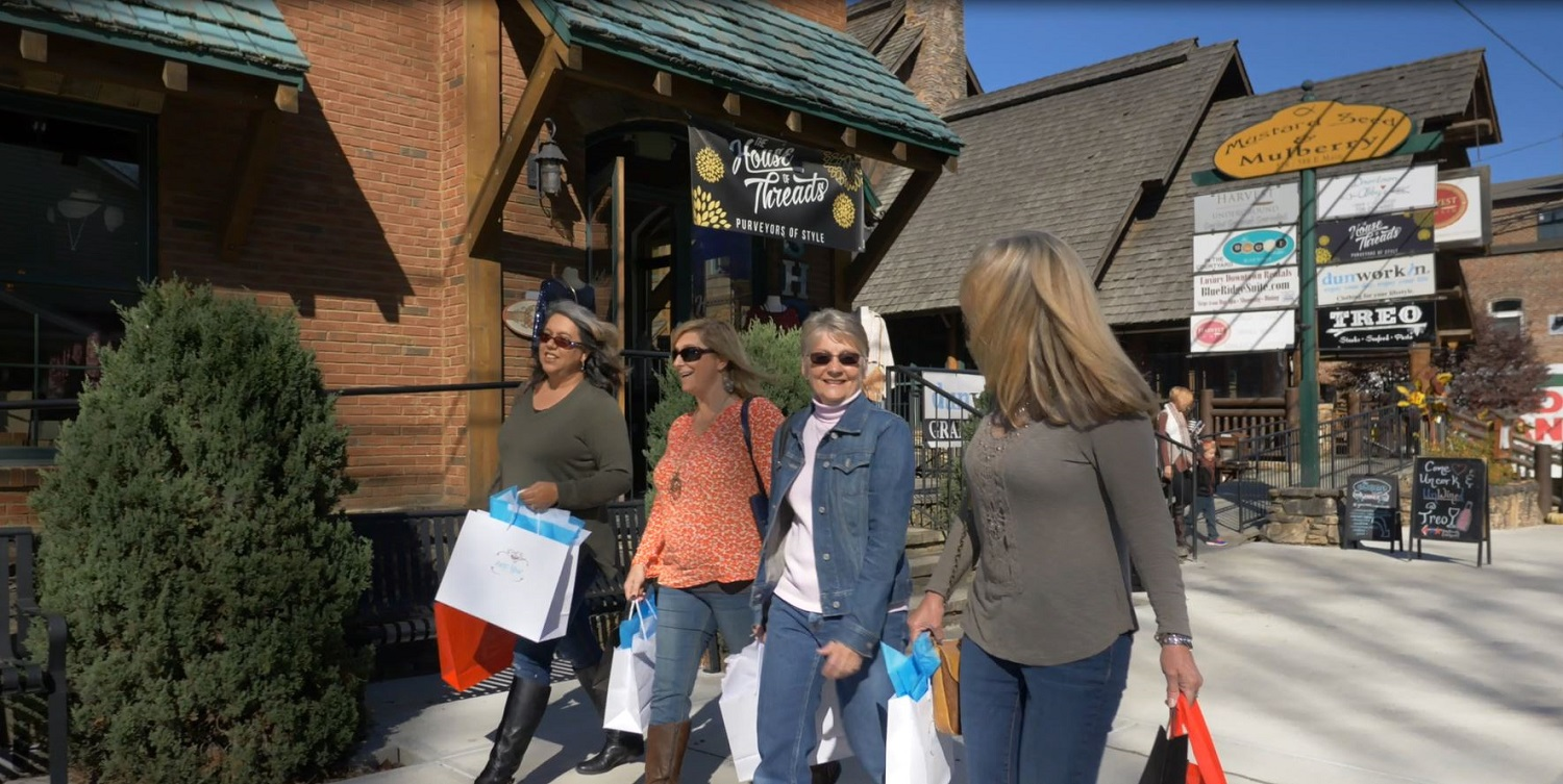 Ladies Shopping in Downtown Blue Ridge